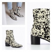 BOTTINES A TALON IMPRIME VACHE