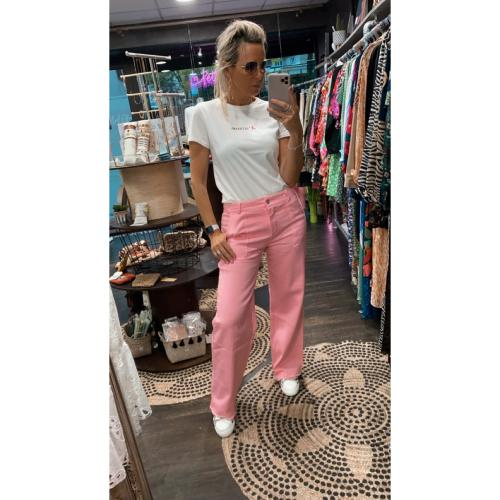 Pantalon rose Brice